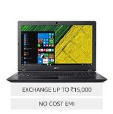 Acer Aspire 3 A315-51-356P (UN.GNPSI.001) 15.6 Inch Laptop (Intel Core i3 (6th Gen)/4 GB/1 TB HDD/15.6(39.62 cm)/Windows 10/Integrated Graphics), Black for Rs. 29,390