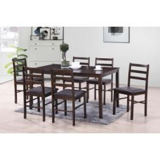 Get 79% off on Bolton Six Seater Dining Set in Dark Walnut