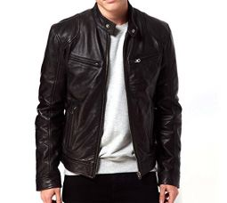 Buy Gordania Men's Bomber Series Faux Leather Slim Fit Zipper Design Jackets from Amazon