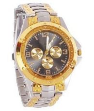 Buy New Designer Silver Gold Dial Watch For Boys for Rs. 299