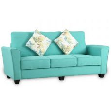 Buy Rogers Fabric Three Seater Sofa Teal for Rs. 32,900