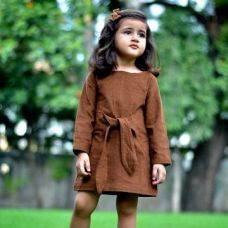 Buy Girls Frock - Brown from Hopscotch