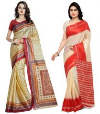 Buy 1 Get 1 Free Triveni Silk Sarees (code-tsco160) for Rs. 499