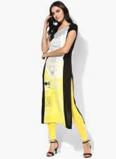 Buy W Multicoloured Printed Kurta from Jabong