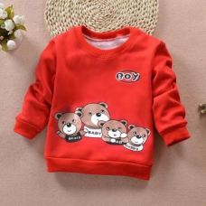 Bear Print Full Slevee Sweatshirt for Rs. 489