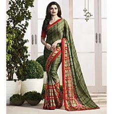 Buy Indian Beauty Multicolor Georgette Floral Saree With Blouse for Rs. 399