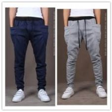 Flat 50% off on Pack Of 2 Men's Grey  Blue Stylish Sports Track Pants