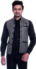 Buy PrimeClub Sleeveless Solid Men's Jacket for Rs. 745