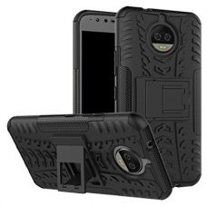 ZYNK CASE Authentic Hybrid Armor Design Detachable and Stand-up Feature Dual Layer Protective Shell Hard Back Cover Case MOTO X4 - Space Black for Rs. 350