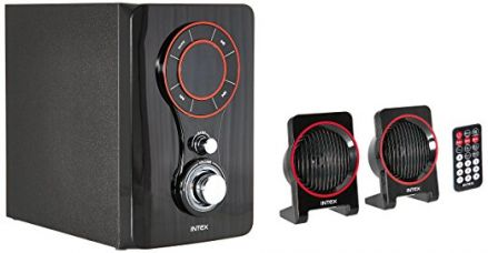 Buy Intex IT-211 TUFB 2.1 Channel Multimedia Speakers (Black) from Amazon