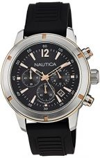 Buy Nautica Chronograph Black Dial Men's Watch  - NTA17654G from Amazon