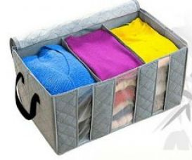 Buy Oldable Storage Bag Clothes Blanket Closet Sweater Organizer Box Charcoal from Rediff