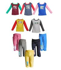 Jisha Fashion Full Sleeves Tshirt Track Pants ( Combo of 5) (6-12 Months) for Rs. 699