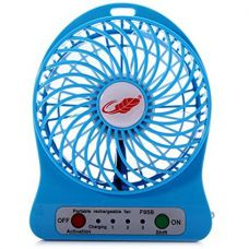 Buy Portable Rechargeable Battery USB Mini Fan (Colours May Vary) 3 Adjustable Speed Levels by Premsons from Amazon