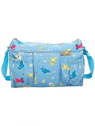 Mee Mee Multifunctional Diaper Bag with Pockets (Blue) for Rs. 399