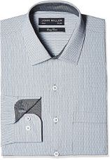 Buy John Miller Men's Slim Fit Formal Shirt (1OS88332_39_Grey) from Amazon