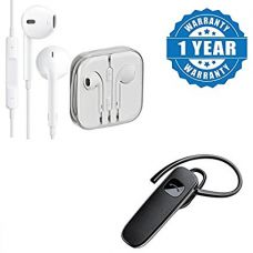 Buy Captcha Earphones With Remote And Mic Wired Headset & K1 Wireless Bluetooth Headset from Amazon