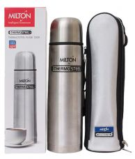 Buy Milton Thermosteel Flip Lid Flask, 1000ml, Silver (EC-TMS-FIS-0058_Silver) from SnapDeal