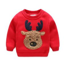 Buy Red Animal Patch Work Full Sleeves Sweatshirt from Hopscotch