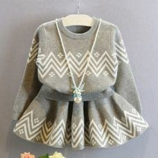Buy Gray Zig Zag Print Top and Skirt from Hopscotch