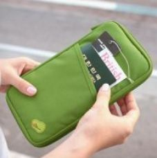 Buy Passport Document Holder Organizer For Money Ticket Cards Coins for Rs. 385