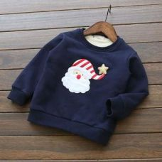 Buy Navy Santa Applique Sweatshirt from Hopscotch