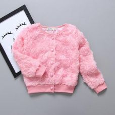 Buy Pink Floral Applique Buttoned Cardigan from Hopscotch