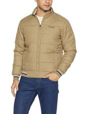 Qube by Fort Collins Men's Bomber Jacket (7292_M_Camel) for Rs. 1,199