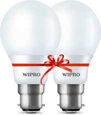 Wipro 5 W Standard B22 LED Bulb  (Yellow, Pack of 2) for Rs. 260