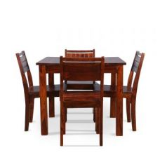 Flat 74% off on Trelis Four Seater Dining Set in Honey Color