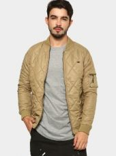 Abof Men Brown Regular Fit Quilted Winter Jacket for Rs. 2,495
