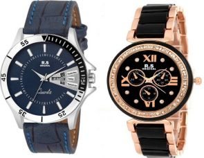 R S Original DIWALI DHAMAKA OFFER RSO155 SERIES Watch  - For Couple for Rs. 558