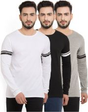 Flat 50% off on Billion PerfectFit Solid Men Round Neck Multicolor T-Shirt  (Pack of 3)