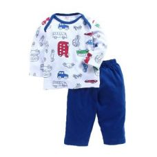 Buy Cute Vehicle Print T-Shirt and Pant Set from Hopscotch