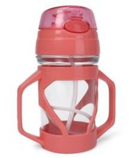 Flat 10% off on Sipper Bottle With Straw - Pink