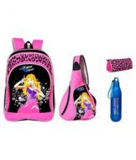 Buy Sara School Bag with Cross Bag, Water Bottle and Pouch from SnapDeal