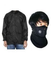 Buy MotRoX Biker Windcheaters for Winters/Rain with Anti Pollution Neoprene Face Mask from SnapDeal