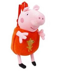 Buy Peppa Pig Plush School Bag Pink Orange - 17.32 inches for Rs. 948