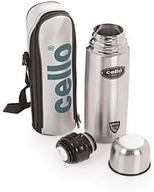 Flat 53% off on Cello Lifestyle Double Wall 750 ml Flask(Pack of 1, Silver)