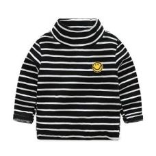 Buy Black Horizontal Stripes Full Sleeves T-Shirt from Hopscotch