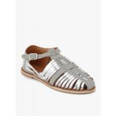 Grey Leather Sandals HML670 for Rs. 599