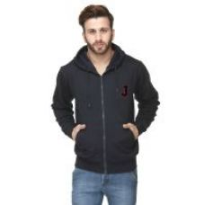 Buy Scott International Navy Blue Cotton Comfort Styled Hooded Sweatshirt for Rs. 499