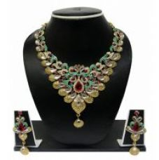Get 79% off on Zaveri Pearls Graceful Petals Grand Necklace Set For Women -ZPFK84