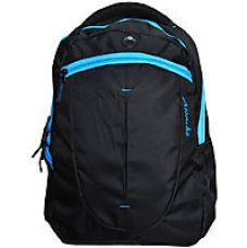 Buy Attache 1101 Buzz Backpack (Black and Blue) from ShopClues