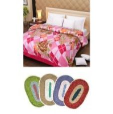 Buy iLiv Double Bed AC BlanketDB03 With 4 Bath Mat Combo for Rs. 479