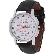 Buy Relish Round Dial Black Leather Strap Men Quartz Watch for Men for Rs. 269