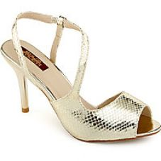 Buy Shuz Touch Women's Gold Heels for Rs. 999