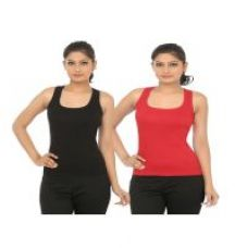 Buy Trudam Multi Color Tank top Pack of 2 for Rs. 199
