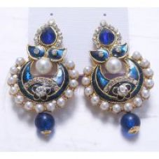 Women Jewellery Blue Royal Designer Gold Plated Traditional Kundan Girls Earrings for Rs. 149