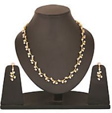 Flat 82% off on Touchstone Gold Plated Western Designer Necklace Set FGNSA030-01A--Y